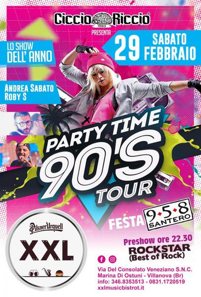 CiccioRiccio Party Time 90's Tour at XXL Music Bistrot