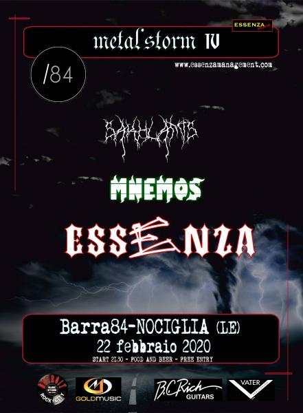 Metal Storm IV con  ESSENZA, Mnemos e Sakhlamis
