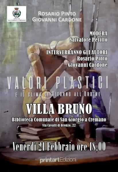 Presentazione del libro Valori Plastici di Rosario Pinto e Giovanni Cardone presso Villa Bruno