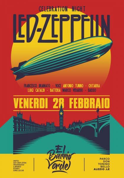 Led Zeppelin Celebration Night a El Barrio Verde