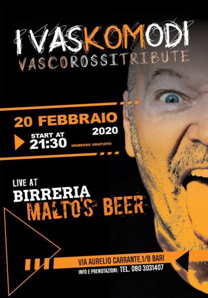 I Vaskomodi (Tributo a Vasco) at Malto's beer Bari