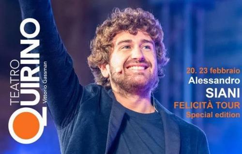 """Alessandro Siani a Roma con il suo """"Felicità Tour"""""""