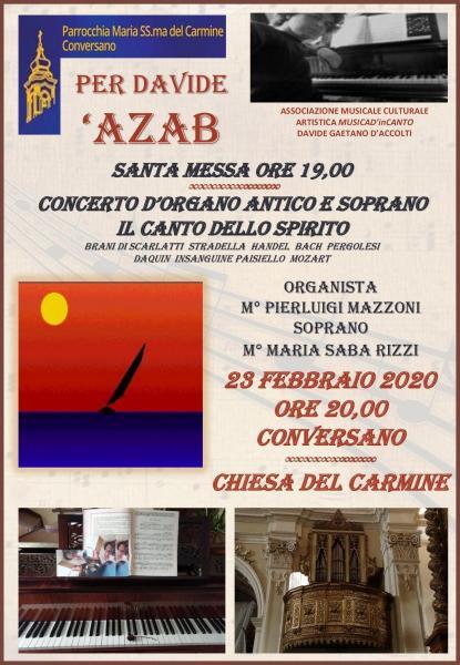 'AZAB Concerto d'organo e voce soprano