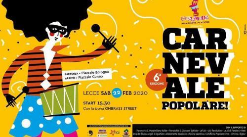 Carnevale Popolare e Barbecue di comunità a Lecce