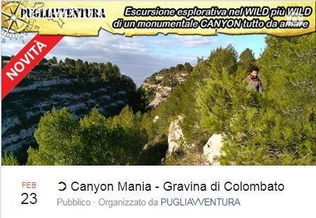Canyon Mania - Gravina di Colombato - Famosa
