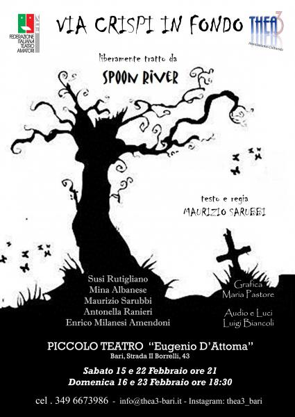 """Via Crispi in fondo""  da Spoon River, compagnia Thea3"