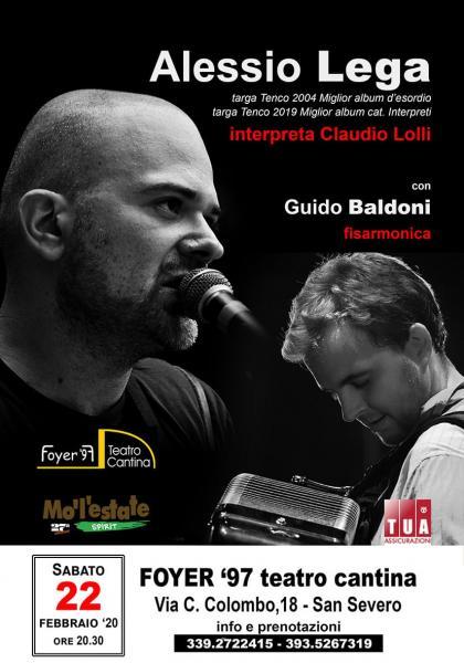 Totem: Alessio Lega canta la leggenda Claudio Lolli