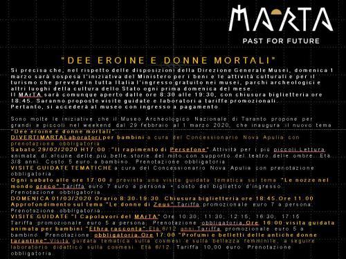 """Marzo Al MArTA: """"Dee eroine e donne mortali"""""""