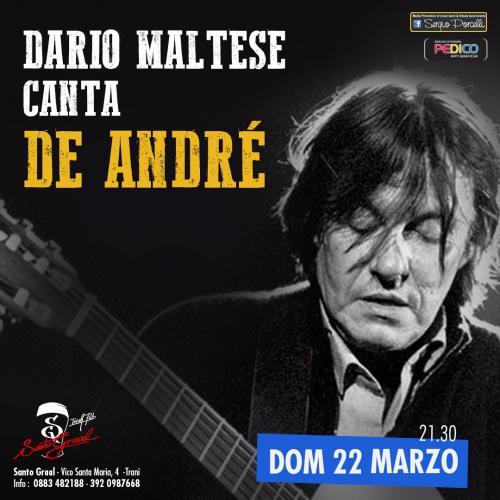 - Dario Maltese canta De Andrè a Trani