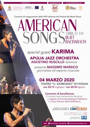 American Songs, con la splendida voce di Karima, a favore di Casa Sollievo