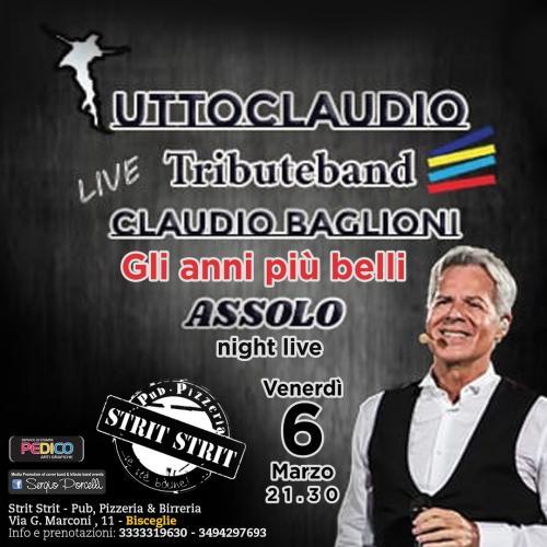 Gli anni più belli - Claudio Baglioni tribute assolo night live