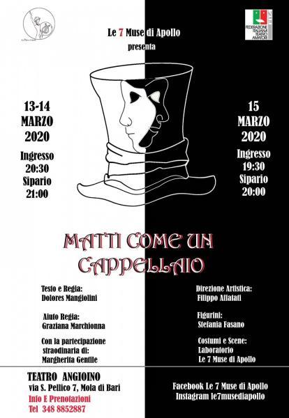 """""""Matti come un Cappellaio"""" al Teatro Angioino (Mola di Bari)"""