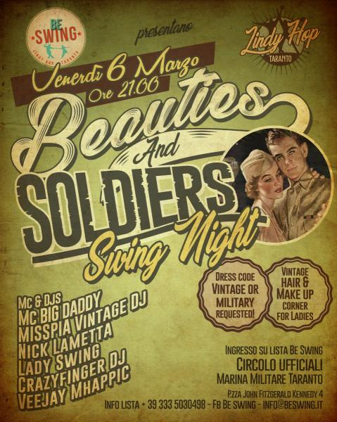 Beauties and Soldiers Swing Night