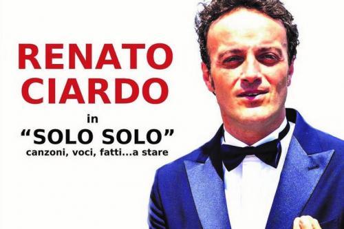 """Renato Ciardo a Brindisi con """"Solo Solo"""""""