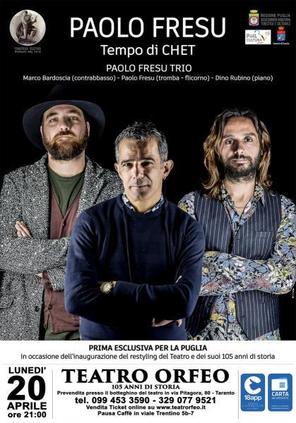"""CONCERTO """"PAOLO FRESU - TEMPO DI CHET"""""""