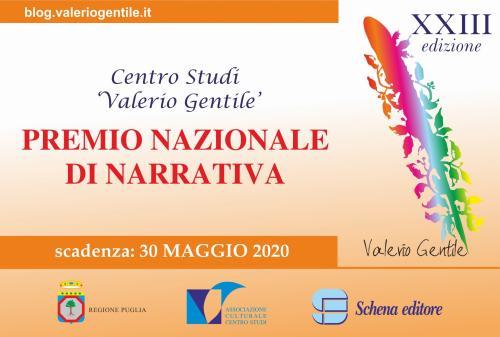 """Premio Nazionale di Narrativa """"Valerio Gentile"""" XXIII edizione"""