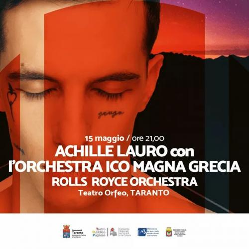 Achille Lauro live concert a Taranto