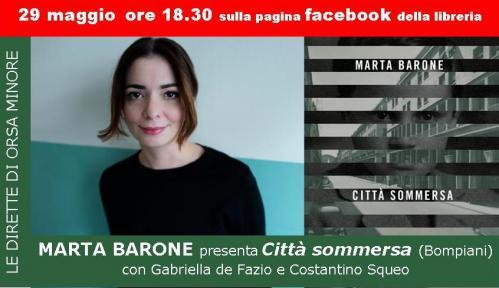diretta Facebook con Marta Barone