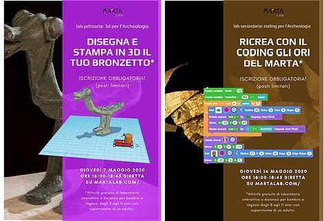 COMUNICATO DEL MUSEO ARCHEOLOGICO NAZIONALE DI TARANTO - MArTA  I LABORATORI INTERATTIVI DEL MArTA Lab CONTINUANO!