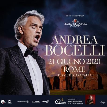 Andrea Bocelli alle terme di Caracalla