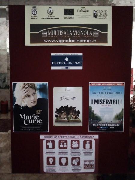 Bentornato Cinema, al Multisala Teatro VIGNOLA tanti film per tutti i gusti in sicurezza