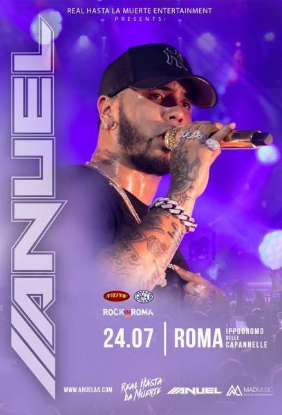 Anuel AA per Rock in Roma