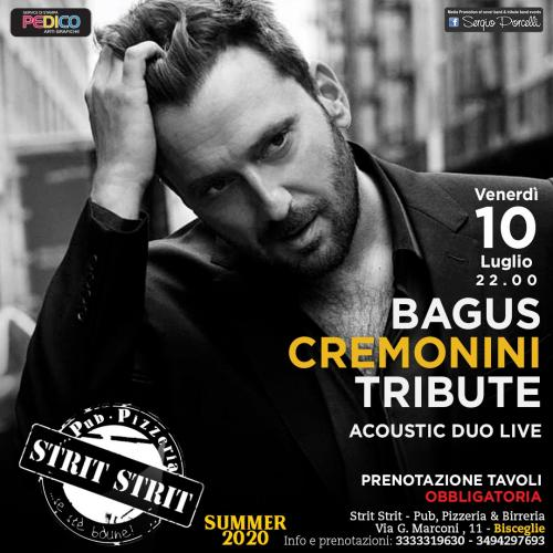 Bagus - Cremonini tribute acoustic duo live a Bisceglie
