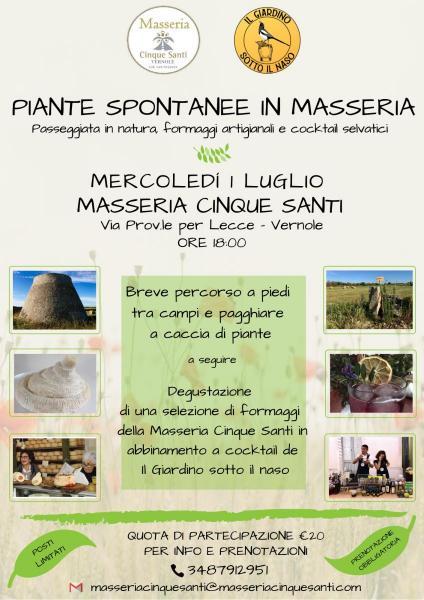 Piante spontanee in Masseria