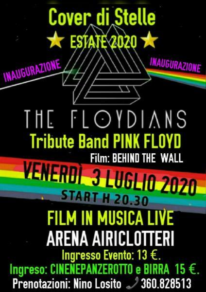 """Questo Evento è stato spostato a VILLA ROTONO invece che all'Arena  AIRICICLOTTERI Film in Musica Live: """"Film: BEHIND THE WALL"""" - """"Live: THE FLOYDIANS Tribite Bamd PINK FLOYD""""."""