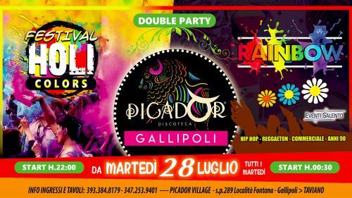 Picador - DOUBLE PARTY Holi Colors + Rainbow - ogni martedì
