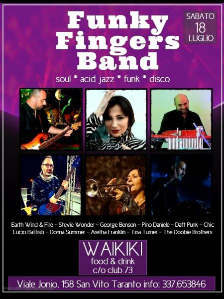 FUNKY FINGERS BAND live al Waikiki food & drink c/o Club73