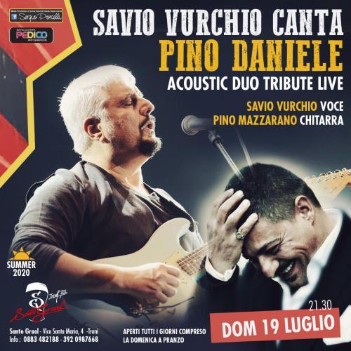 Savio Vurchio canta Pino Daniele a Trani