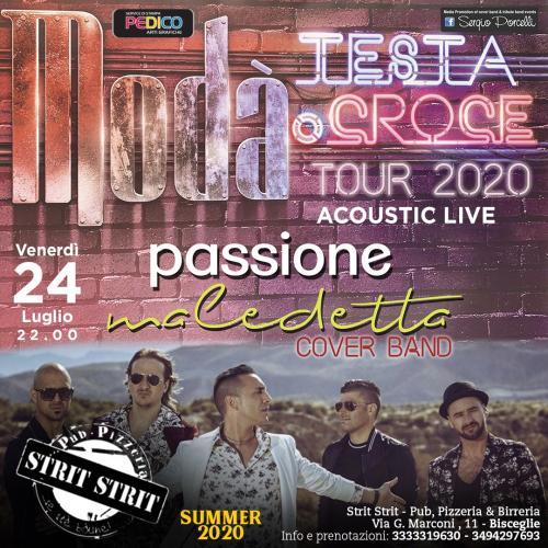Modà - Passione maledetta cover band - acoustic live Bisceglie
