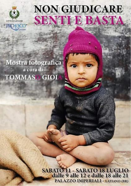 """Mostra fotografica di Tommaso Gioia: """"Non giudicare, senti e basta"""""""