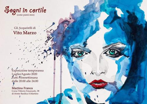 Sogni in Cortile (come panni stesi): gli Acquerelli di Vito Marzo