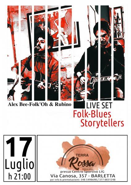 "Folk-Blues Storytellers :: Alex Bee-Folk'Oh & Rubino al ""Terra Rossa"""