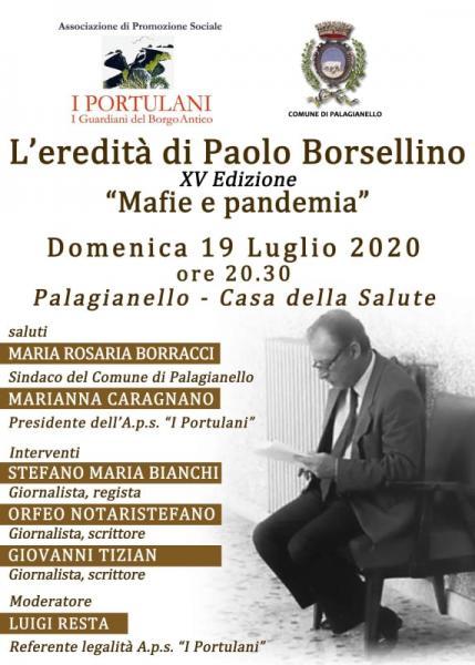 L'eredità di Paolo Borsellino - Mafie e pandemia