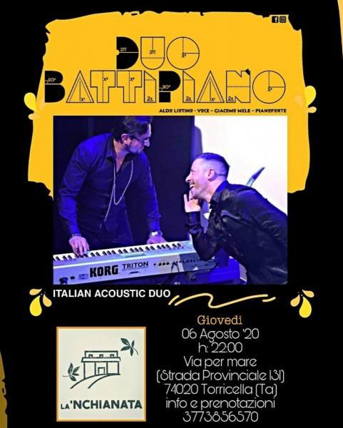 """""""BattiPiano"""" in concerto giovedì 6 agosto a La'nchianata di Torricella."""