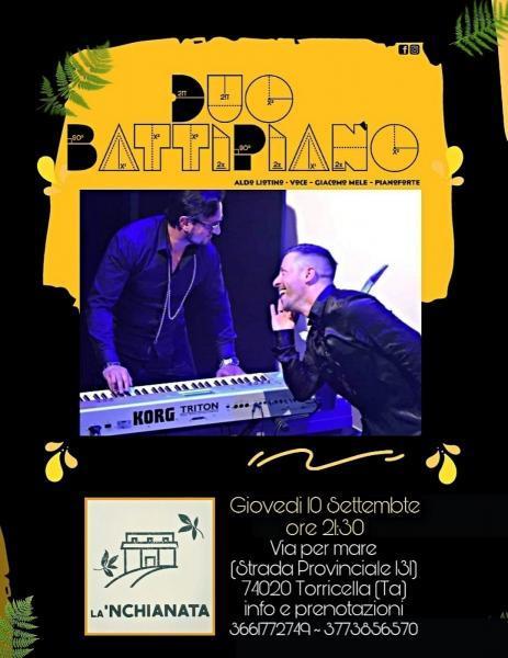 BattiPiano in concerto giovedì 10 settembre a La'nchianata