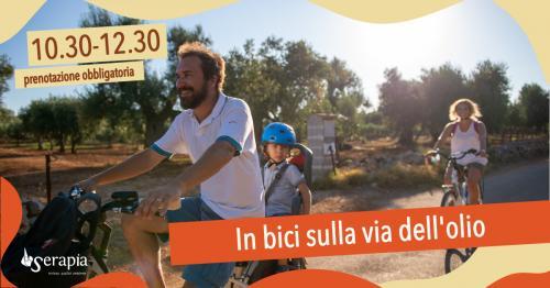 In bici sulla via dell'olio