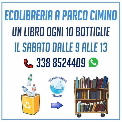 Ecolibreria di Plasticaqquà a Parco Cimino Taranto