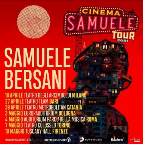 Samuele Bersani live a Bari per il tour 2021