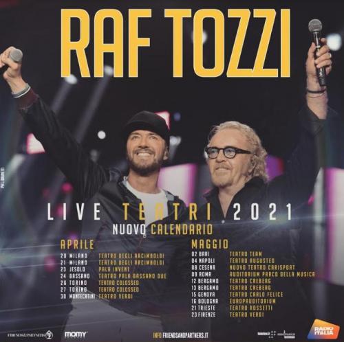 Raf e Tozzi pronti a tornare al Teatro Team di Bari