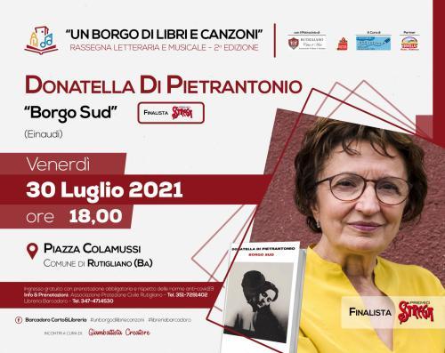 BORGO SUD (Einaudi) - FINALISTA PREMIO STREGA 2021 - Incontro con l'autrice DONATELLA DI PIETRANTONIO